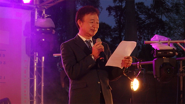 台湾大学芸術祭オープニングセレモニーでの祝辞風景