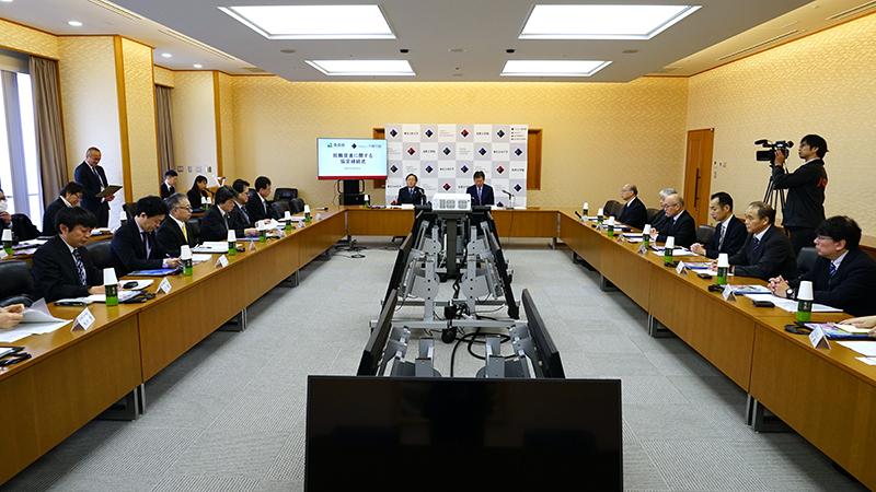 青森県と「UIJターン就職支援に関する協定」締結式会場