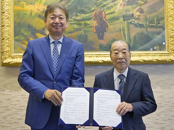学校法人大森学園米澤正倫理事長と片柳学園理事長 千葉茂